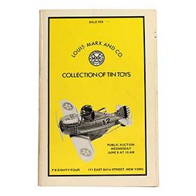 1977 Louis Marx & Co., PB84 Auction Catalog of Factory Collection Tin Toys