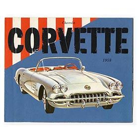1958 Chevrolet Corvette Convertible; Dealers Original Fold-Out Color Brochure