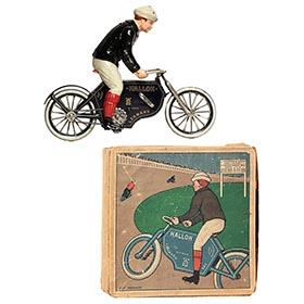 1914 Lehmann, No. 683 Halloh Motorcyclist in Original Box