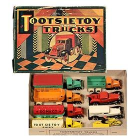 1933 Tootsietoy, No. 5310 Deluxe Truck Set in Original Box