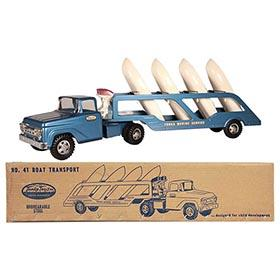1959 Tonka, No.41 Boat Transport Truck in Original Box