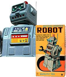 c.1955 Yonezawa, Battery Operated (Directional) Robot in Original Box