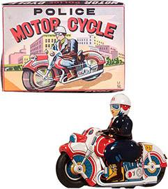 c.1955 Usagiya Toys, Police Motorcycle in Original Box