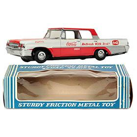 1963 Taiyo, Coca-Cola Ford Galaxie 500XL in Original Box