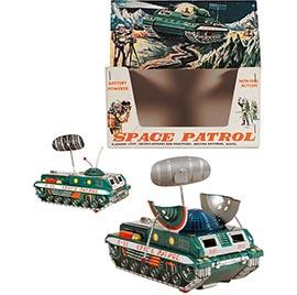 c.1963 Yonezawa, Space Patrol Tank X-11 in Original Box