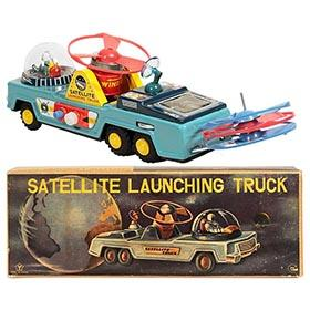 c.1955 Yonezawa/Tomiyama Satellite Launching Truck in Original Box