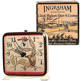 c.1948 Ingraham, Bugs Bunny Animated Alarm Clock in Original Box