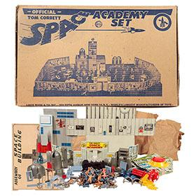 1952 Marx, No. 7010 Tom Corbett Space Academy Playset in Original Box