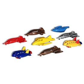 1952 Eight Mid-20th Century Hard Plastic Toy Space Ships