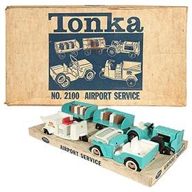 1962 Tonka, No.2100 Airport Service Set in Original Box