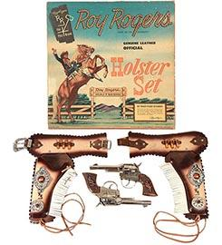 1956 Classy Prod., Roy Rogers Double Holster & Pistol Set No. 2805 in Orig. Box