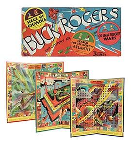 1934 Lutz Sheinkman Buck Rogers 25th Century Triple Board Game in Orig.Box