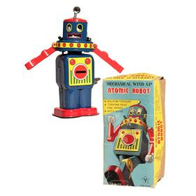 1968 Yonezawa, Mechanical Atomic Robot in Original Box