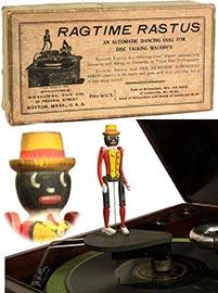 c.1915 National Toy Co., Ragtime Rastus Phonograph Toy in Orig. Box