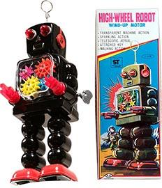 1967 Yoshiya, High Wheel Robot in Original Box w/inserts