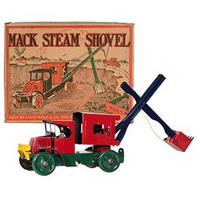 1928 Marx, Mechanical Mack Steam Shovel in Original Box