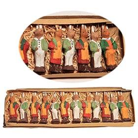 c.1920 Germany, 12 Composition Easter Bunny Figures in Original Box