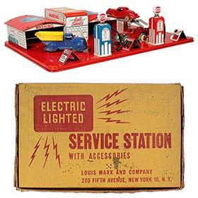 c.1940 Marx, Gull Oil Electric Service Station in Original Box