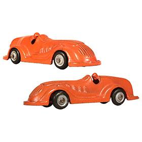 1937 Arcade, No.1457 Cast Iron Orange Racer
