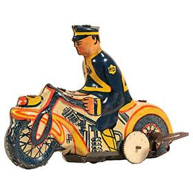 1936 Marx, Clockwork Mystic Motorcycle Cop, Version 1