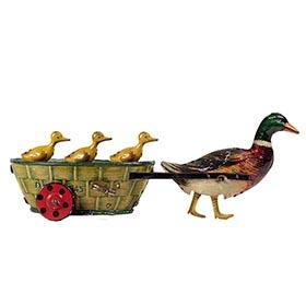c.1910 Lehmann No.645 Clockwork Paak-Paak Duck & Ducklings