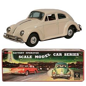 c.1966 Bandai, Volkswagen Beetle with Visible Engine in Original Box