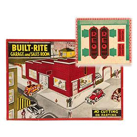 c.1933 Built-Rite, No.15 REO Brand Car Dealership & Garage in Original Box