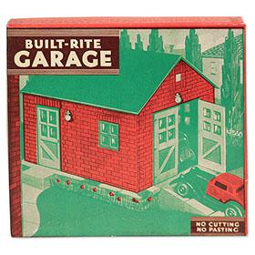 1933 Built-Rite, No. 7 Single Car Garage in Original Box