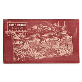 c.1943 Built Rite, Army Trench with Six Soldier in Factory Sealed Box