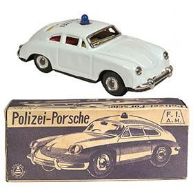 c.1956 Sanshin, Porsche 356 Coupe Polizei (Police) Car in Original Box