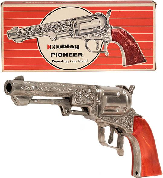 1950 Hubley, Pioneer Repeating Cap Pistol in Original Box