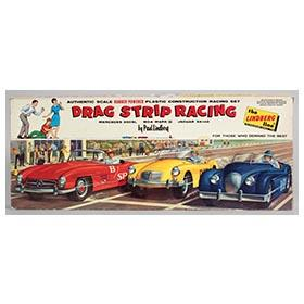 1961 Lindberg Drag Strip Racing Set in Original Box