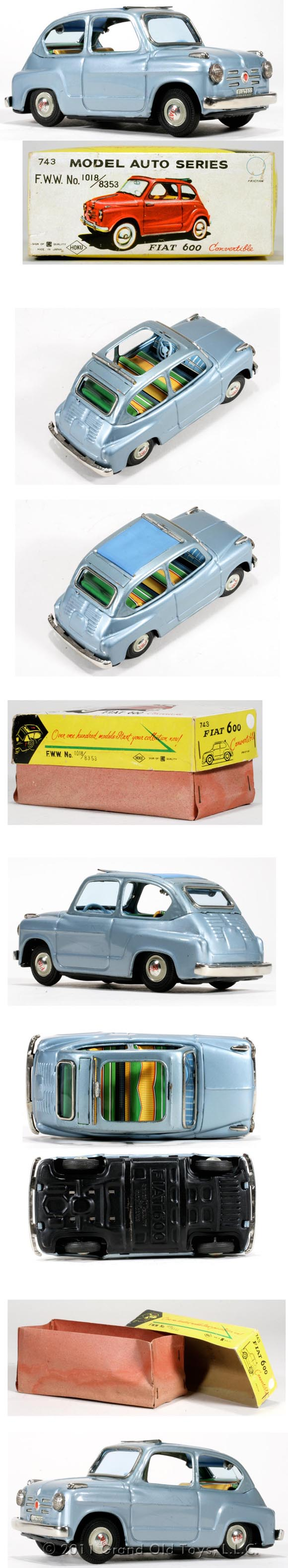 drive Fiat 600 convertible